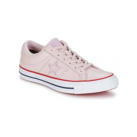 Converse One Star-Ox women's Shoes (Trainers) in Pink