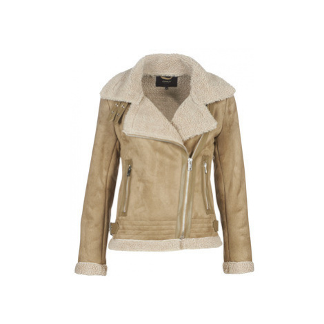 Only ONLMADDIE women's Leather jacket in Beige