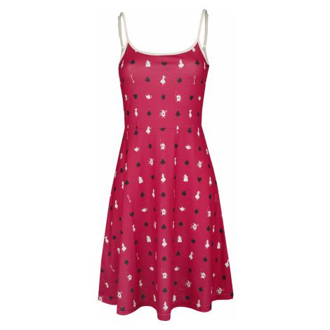Alice in Wonderland - Cards - Dress - red