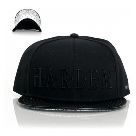 Cayler & Sons Black Label Harlem Snapback Black White