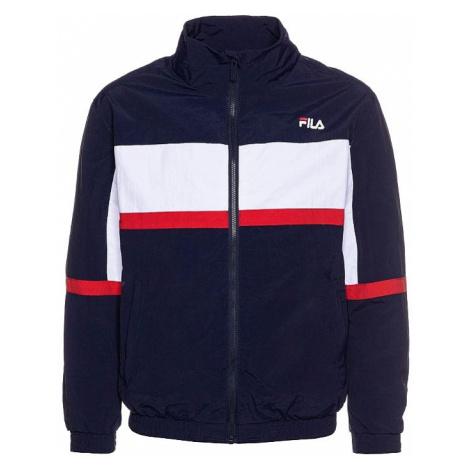 jacket Fila Kayan Wind - Black Iris/Bright White/True Red - unisex junior