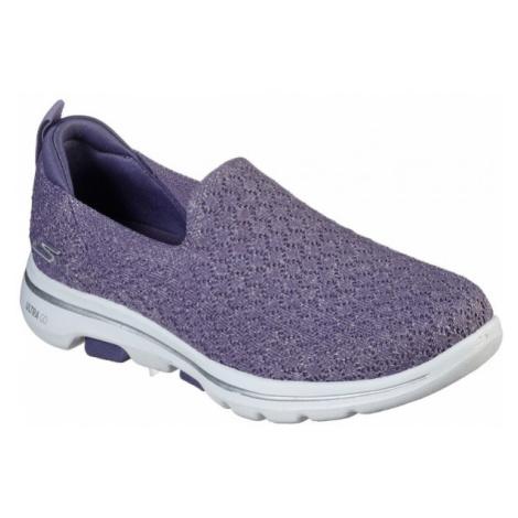 Skechers GO WALK 5 BRAVE violet - Women's slip-on slippers