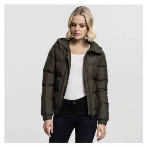 Urban Classics Ladies Hooded Puffer Jacket darkolive