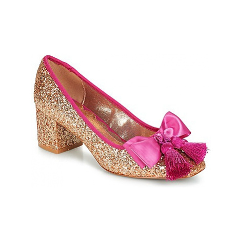 Miss L'Fire SABRINA women's Court Shoes in Gold
