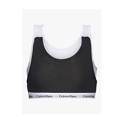 Calvin Klein Girls' Bralette, Pack of 2, Black/White