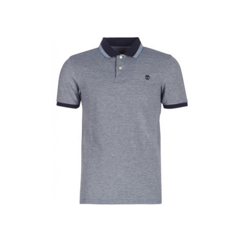 Timberland SS POLO men's Polo shirt in Blue