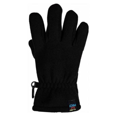 Lewro NARINDER black - Children's fleece gloves