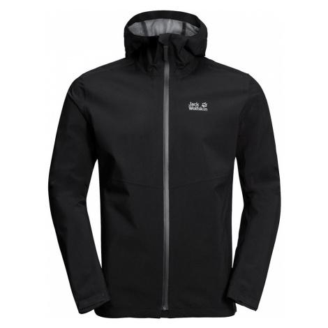 Jack Wolfskin Mens JWP Waterproof Softshell Jacket-Black-2XL
