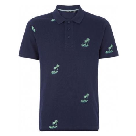 O'Neill LM PALM AOP POLO dark blue - Men's polo shirt