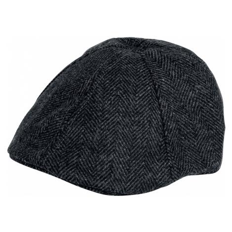 MAZ - Herringbone Flat Cap - Cap - dark grey