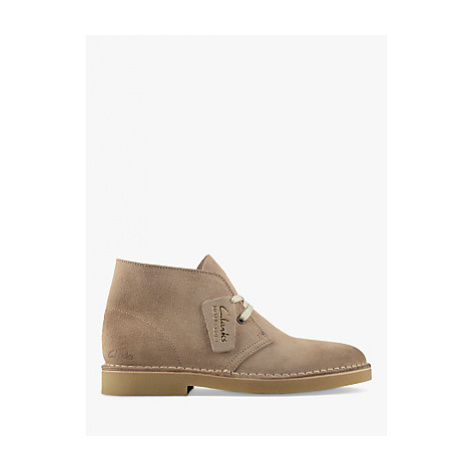 Clarks Desert Suede Lace Up Boots, Sand