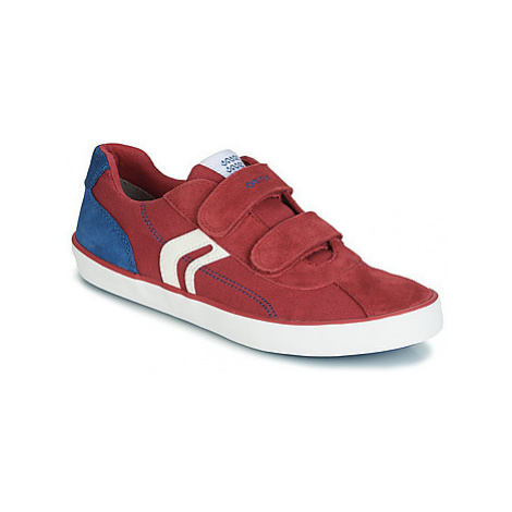 Geox J KILWI BOY boys's Children's Shoes (Trainers) in Red