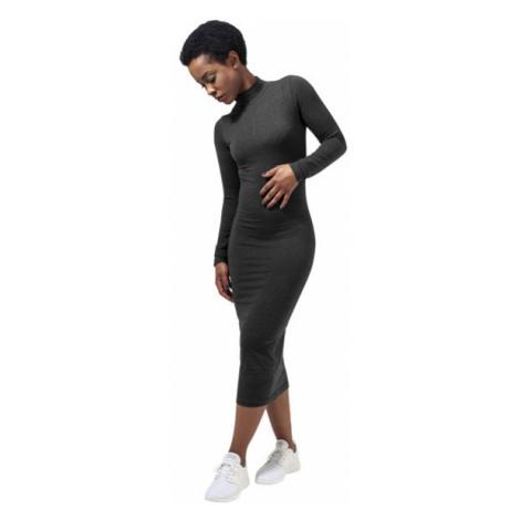 Urban Classics Ladies Turtleneck L/S Dress charcoal