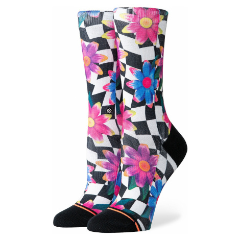 socks Stance Crazy Daisy Crew - Black - women´s
