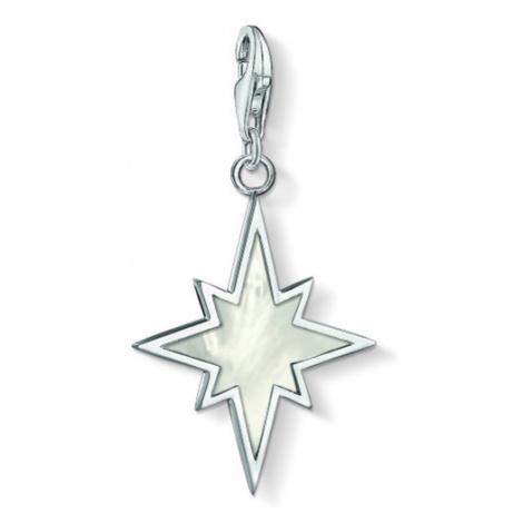 Ladies Thomas Sabo Sterling Silver Charm Club Mother of Pearl Star Charm 1538-029-14