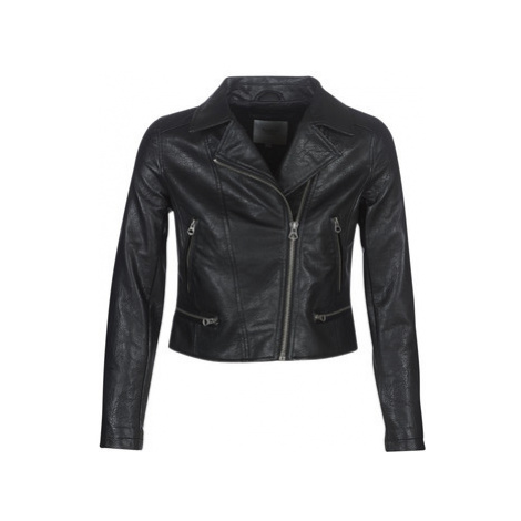 Pepe jeans LAETITIA women's Leather jacket in Black