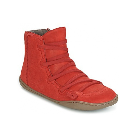 Camper PEU CAMI women's Mid Boots in Red