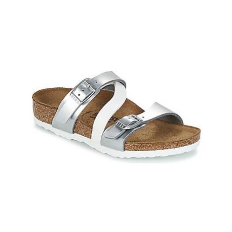 Birkenstock SALINA girls's Children's Mules / Casual Shoes in Silver