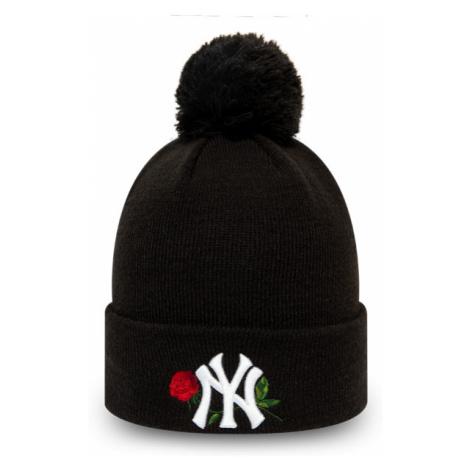New Era MLB WMNS TWINE BOBBLE KNIT NEW YORK YANKEES black - Women's club winter beanie