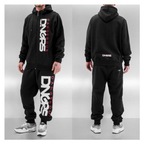 Dangerous DNGRS Classic Sweat Suit Black/Red