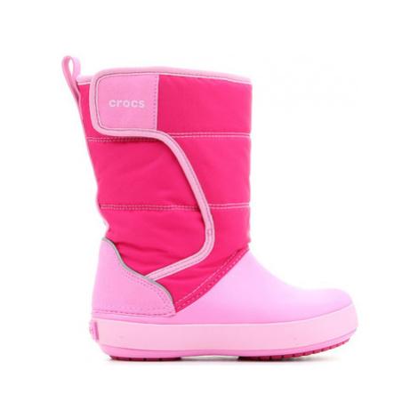 Crocs LODGEPOINT SNOW K 204660-6LR girls's Children's Snow boots in Pink