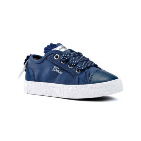 Geox Junior Ciak Lo Girls Canvas Shoes girls's Children's Shoes (Trainers) in Blue
