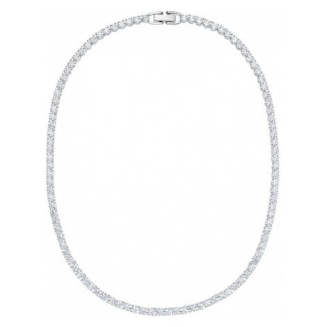 Swarovski Deluxe White Crystal Tennis Necklace
