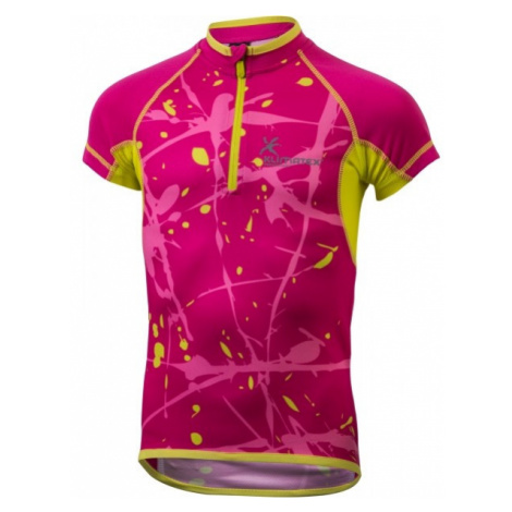 Klimatex HAJO red - Kids' cycling jersey with a sublimation print