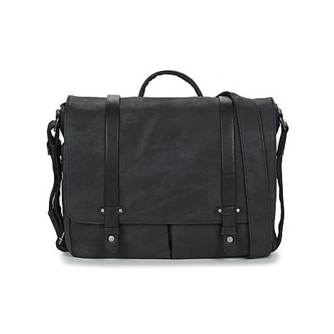 Wylson HARBOUR men's Messenger bag in Black