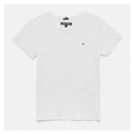 Tommy Hilfiger Girls' Basic Short Sleeve T-Shirt - Bright White