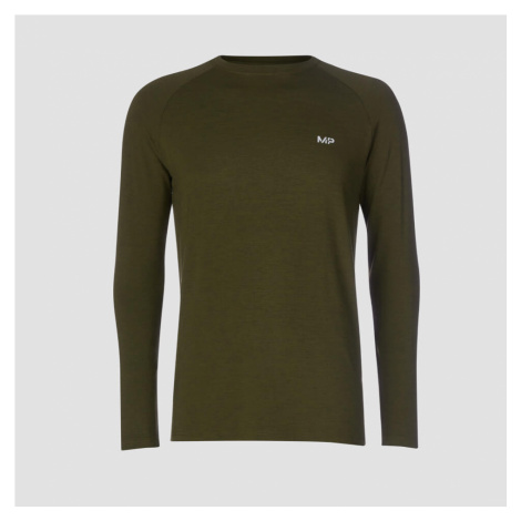 MP Men's Performance Long-Sleeve Top - Army Green Marl Myprotein