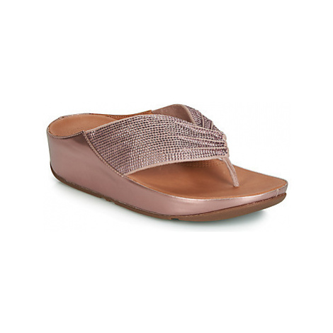 FitFlop TWISS CRYSTAL women's Flip flops / Sandals (Shoes) in Pink