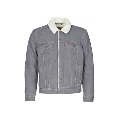 Levis SHERPA TRUCKER MAGNET CANVAS men's Denim jacket in Grey Levi´s