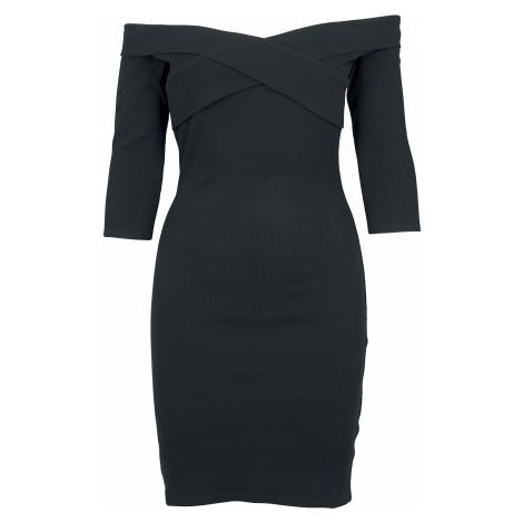 Urban Classics - Ladies Off Shoulder Cross Rib Dress - Dress - black