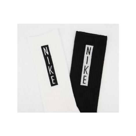 Nike Heritage Crew Sock 2 Pair BLACK MULTI