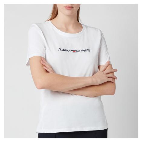 Tommy Sport Women's Regular Crew Neck Graphic T-Shirt - Th Optic White