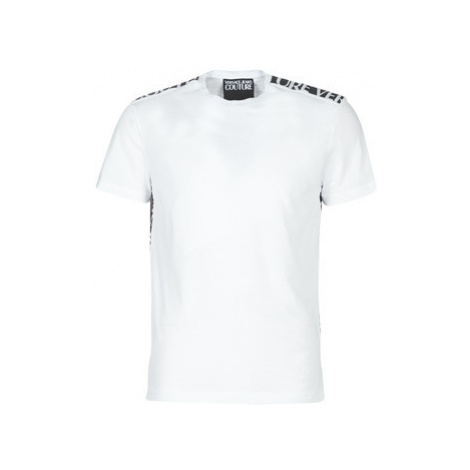Versace Jeans Couture UUP600 TAPE LOGO men's T shirt in White
