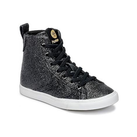 Hummel STRADA GLITTER JR girls's Children's Shoes (High-top Trainers) in Black