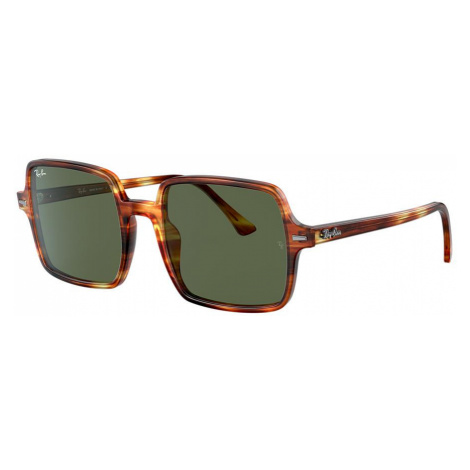 Ray Ban Woman RB1973 SQUARE II - Frame color: Tortoise, Lens color: Green, Size 53-20/140