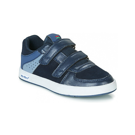 Kickers GREADY LOW CDT boys's Children's Shoes (Trainers) in Blue
