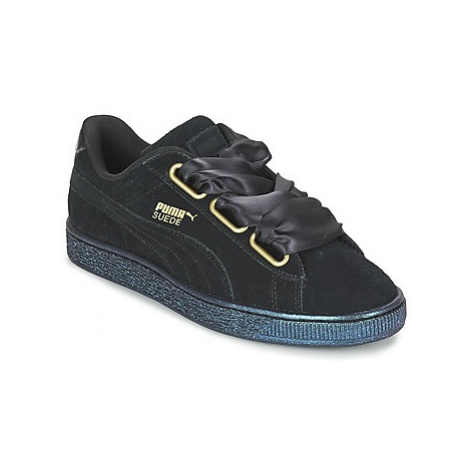 Puma BASKET HEART SATIN WN'S women's Shoes (Trainers) in Black