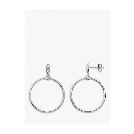 Hot Diamonds Circle Drop Earrings, Silver