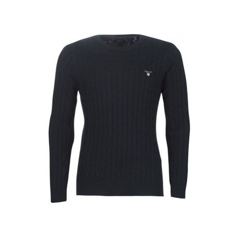 Gant COTTON CABLE CREW men's Sweater in Blue