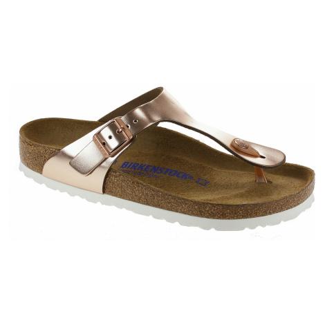 flip flops Birkenstock Gizeh Natural Leather - Metallic Copper - women´s