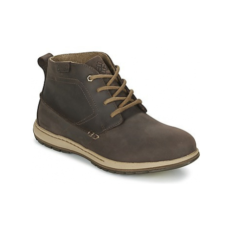 Columbia DAVENPORT CHUKKA WATERPROOF LEATHER men's Walking Boots in Brown
