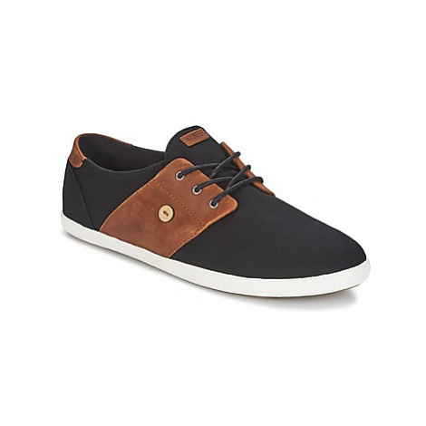 Faguo CYPRESS COTTON/LEATHER men's Shoes (Trainers) in Black