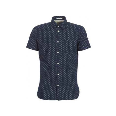 Selected SLHSLIM MATTHEW men's Short sleeved Shirt in Blue
