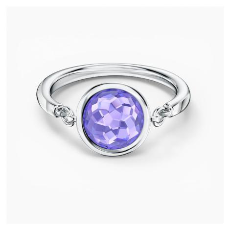 Tahlia Ring, Purple, Rhodium plated Swarovski