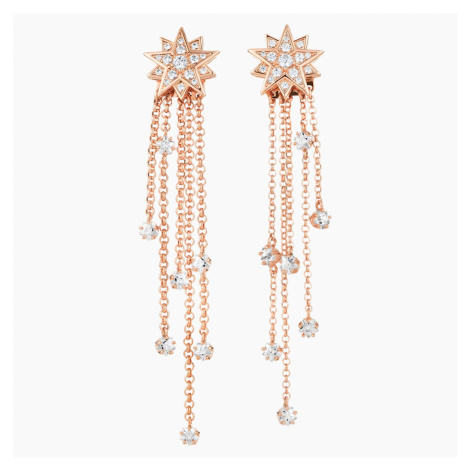 Penélope Cruz Moonsun Strand Pierced Earrings, Limited Edition, White, Rose-gold tone plated Swarovski