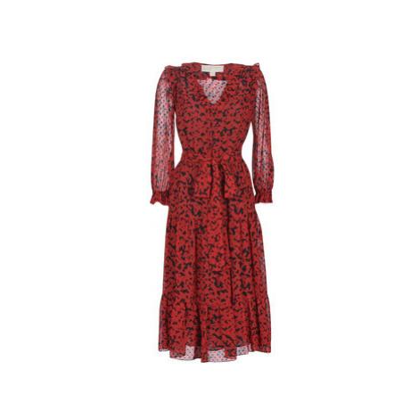 MICHAEL Michael Kors MF98Z7ACDM-938-BLACK/SCARLET women's Long Dress in Red